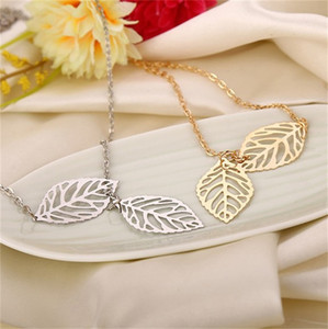 القلائد المعلقات 925 الفضة مطلي الأوراق قلادة القلائد عيد الحب هدية أزياء الكورية الفضة جميلة رخيصة طويلة 105 O2