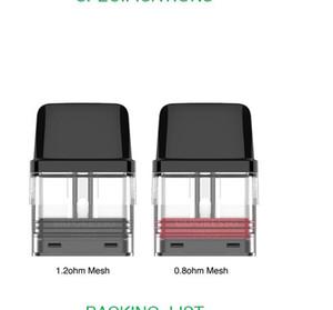 Cartuccia di vaporexo xros cartuccia Pod 2ml 1.2ohm / 0.8ohm maglia Pod Vuoto Penna VAPE Cartucce Confezionamento del magazzino statunitense locale