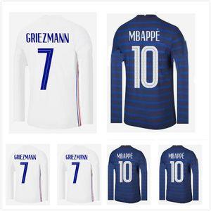 2020 2021 Manga larga Mbappe Griezmann Pogba Soccer Jerseys 20 21 Kante Varane Pavard Dembele Fekir Maillot de Foot Football Shirts
