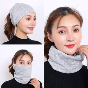 mask mascarilla fashion s face masks ins simple smiley face printed expression cotton breathable scarfs Magic turban