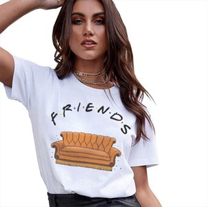 T Shirt Women Top New Harajuku Summer Fashion Casual Friends TV Printed Kawaii Vogue Best Friends Shirts Tee Tops Ladies Clothes
