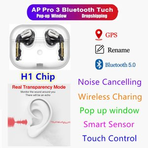 Noise reduction H1 chip Wireless Charging 3ND Gne3 Bluetooth Headphones auto paring Earphones with pop up window pk AP2 i7S i200 i500TWS