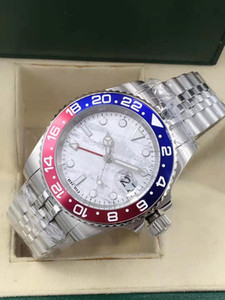 Men's watch, stainless steel case, sapphire mirror, ceramic bezel, folding clasp, GMT individual adjustment function, automatic mechanical m