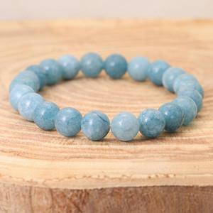 Bretelles de pierre naturelle de haute qualité Bracelets pour femmes hommes Mode Bracelet Apatite Elastic Energy Pulsera Homme bijoux