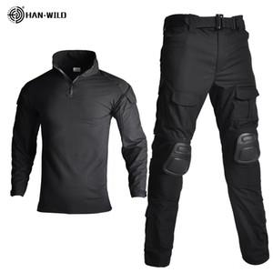 Тактического камуфляж военной формы одежды костюм мужчины Ветровка US Army Airsoft Combat Shirt + Cargo 4шта Брюки наколенники Plus 8XL