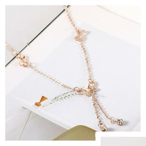 Temperament Butterfly Single Drill Tassel Anklet Female Korean Fashion Accessories Whol sqcHcS new_dhbest