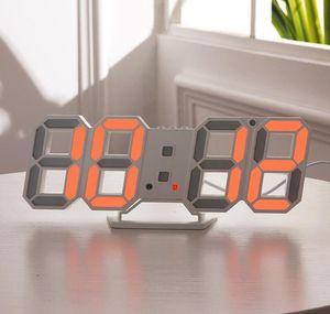Modern Design 3d Led Wall Clock Modern Digital Alarm Clocks Display Home Living Room Office Table Desk Night W jllKhQ trustbde