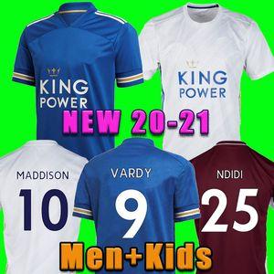 футбол Джерси Таиланд Leicester 20 21 футбола рубашки ГОРОД 2020 2021 Vardy Camiseta NDIDI МЭДДИСОН Майо-де-футовые равномерная Men + дети Kit 99