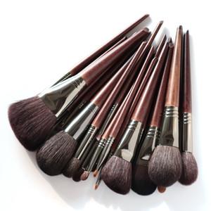 OVW Natural Goat Hair Makeup Brushes Set Professional Kit brocha maquillaje pedzle do makijazu blending smudging brush shader 201009