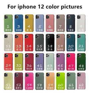 Para iPhone 12 mini pro funda de silicona máxima del estilo original de Casos de goma de silicona líquida con cajas al por menor para IP 11 Pro max 6 7 8 Plus XS MAX