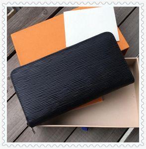 ZZ مصمم للجنسين محافظ الأعمال الفاخرة المرأة حقيبة يد رجل رسمي محفظة الأزياء الكلاسيكية السوداء محفظة عالية الجودة محفظة عادي