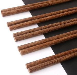 Palillos de madera naturales sin laca. Vajilla de cera China Estilo clásico Palillos de madera MADERA DE MADERA DE MADERA DESHI DHE3781