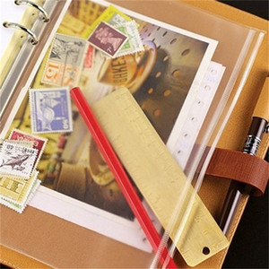 PVC Binder Clear Zipper Storage Bag 6 Hole Waterproof Stationery Bags Office Travel Portable Document Sack A5 A6 A7 20 O2