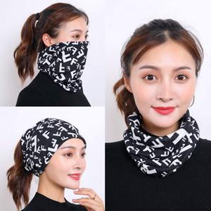mask mascarilla fashion s face masks ins simple smiley face printed expression cotton breathable scarf Magic turban