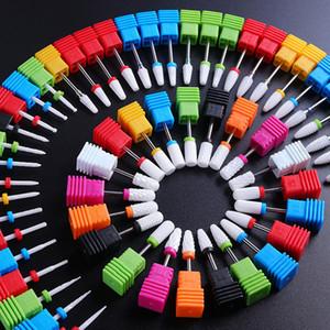 Punta de cono de uñas Brocas de cerámica Bits de manicura eléctrica Drills Herramientas de lijadora Diseño para clavos Accessoires Archivos para manicura Nail Art Art