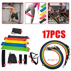 17 pièces VIP Drop Shipping de tirer la corde Exercices de remise en forme Bande de résistance Set d'entraînement Yoga Band Gym Fitness Equipment muslce 201109