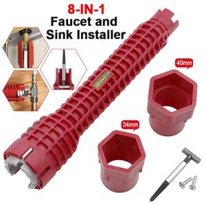 8 Dans 1 robinet et évier Installer multifonction outil clé pour la cuisine salle de bains tuyau d'eau design extra-longue Clé Outils