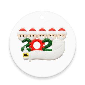 Decoraciones de Navidad Árbol de Navidad Pieza colgante Pieza encantadora Máscara Muñeco de nieve Presenta Árbol de Cumpleaños Accesorios Colgantes GWC2799