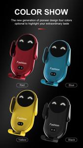 S11 Smiley Chargeur sans fil Sensing Automatique Pour ouvrir les armes Air Porte-téléphone portable Support de téléphone portable 4 couleurs pour choisir