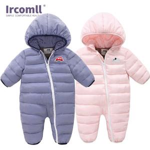 Ircomll 2020 Neonato inverno tuta Tuta della ragazza di abbigliamento invernale autunno inverno cappotto caldo del pagliaccetto 3M-24M 1024