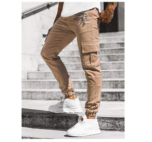 Taschen Zipper Skateboard Herren Pants Solid Color lose beiläufige Männer Designer-Hose Frühling Herbst High Street Kleidung