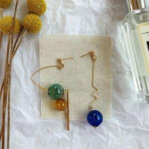 Unique Handmade Blown Glass Ball Original Korean Drop Earrings 2020 Stunning Bubble Long Dangle Earrings For Women Femme Bijoux