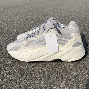 Lassen Sie 700 V2 Static Mann und Frauen Turnschuhe laufen Weiß 3M Sportschuhe mit Kasten EF2829