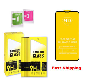 9D Full Cover Screen Protector Saver for iPhone 12 Mini Pro Max 11 XS X XR 8 7 6 Plus Tempered Glass Cover Guard With Paper Retail Package