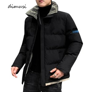 Dimusi Winter Men's Bomber Jacket Moda Algodão de Cômoda Colares Casacos Casuais Esfrega Thermal Slim Acolchoado Casacos Mens Roupas