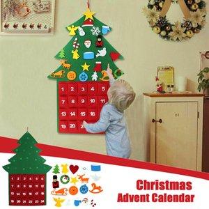 Новогодние украшения Большой Войлок Рождественский календарь Адвента с Карманы благосклонности партии украшение для дома Новый год