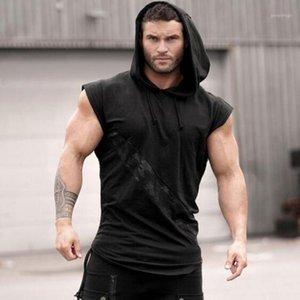 Мода мужская толстовка жилет шить напечатанный камуфляж жилет без рукавов мужской бодибилдинг фитнес одежда CamiSeta Tirantes 20191