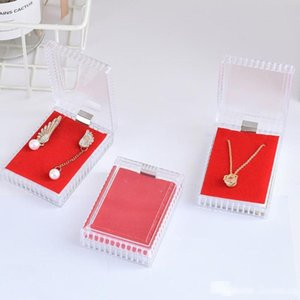 Jewelry Organizer Ring Earring Acrylic Gift Box Storage Transparent Case Fast Shipping F20174078