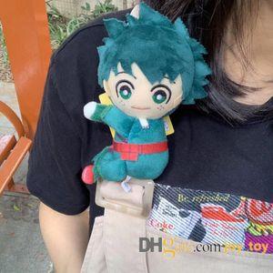13cm My Hero Academia peluche peluche Toy Clip sur les sangles de sac à dos Midoriya Izuku Bakugou Katsuki Todoroki Shoto