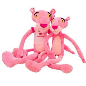 Nuevos niños regalo de los niños linda rosa pantera traviesa muñeca de la felpa juguete de peluche Decoración del hogar 60 cm Relleno regalos leopardo de la felpa Animales