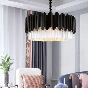 Modern  fashion living room minimalist style black artist and restaurant crystal lamp Villa light chandelier