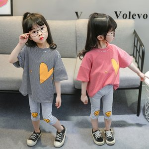 Girl Summer Newborn Clothes Baby Boy Girl Clothes Little Girl Baby Clothes Short Sleeve 3 Sets Y1113