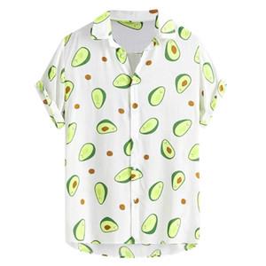 Summer Men Shirt Hawaiian Funny Printed Turn Down Collar Short Sleeve Casual Dress Shirt Men Camisas Hombre Koszula Hawajska