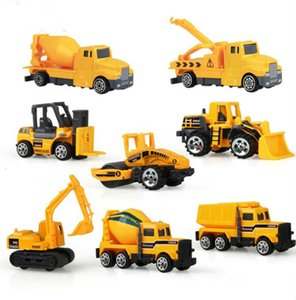 8Pcs Set Mini Alloy engineering Car Tractor Toy Dump Truck Model Classic Toy Mini Gift For Boy Free Shipping