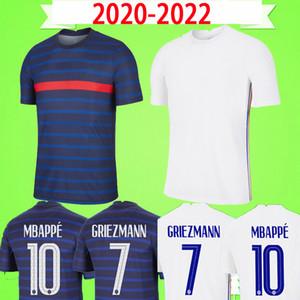 França Francia France Frankreich Fransa # 6 헨리 2019 여성 축구 셔츠 홈 블루 어웨이 화이트 여자 축구 유니폼 클래식 여성 Maillot 드 발 2019 2020 MBAPPE GRIEZMANN POGBA