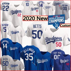 2020 Dodgers Mookie Betts Cody Bellinger Jersey Corey Seager Los Clayton Kershaw Angeles Enrique Hernandez Justin Turner Homens Juventude