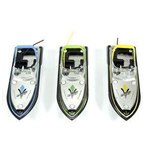 Carga Mini RC Barco Impermeable Racing de alta velocidad RC Speed Boat 13.5x4.5x5cm 2.4V Radio RC Boat ZK 35