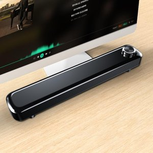 V-102 Home Speaker Bar Computer Speaker 2 * 3.5mm Audio Cable Wired Computer Sound Bar Stereo USB Powered for Desktop PC