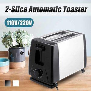 110 V / 220V Tostapane elettrico Casa Tostapane 6 Ingranaggi Automatic Bread Barking Maker Breakfast Machine Toast Sandwich Grill Forno 2-Slice T200414