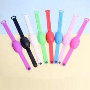 8 цветов Wristband рук Диспенсер Силиконовые дезинфицирующее Диспенсер браслет носимого Лечить наручные Рука с пустой бутылкой 10мл 1200PCS T1I2498