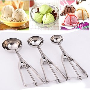 Stainless steel ice cream scoops diameter 4 5 6cm fruit spoon cookies spoon ball maker cooking tool CCE4085