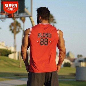 Enjpower Marke Schnell trocknend Kleidung Bodybuilding Gymnasium Weste Mode Herren Fitness Sleeveless Hemd Männer Mesh Tuch Feuchtigkeit # KX8S