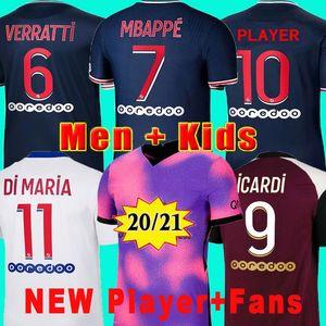 50th maillot psg jersey kids kit player 2021 MBAPPE KIMPEMBE soccer jersey ICARDI VERRATTI home away third 20 21 Men maillot de foot