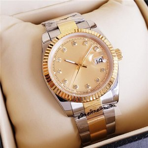 Mens New Lovers Women Gold 2021 Watches Diamond Automatic Arrival Face 41mm 36mm Wristwatches Designer Ladies Watch Ukqiu