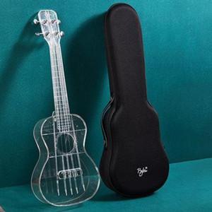 23 Inch Clear Ukulele 4-String w / bolsa de concierto Selecciones paño de pulido de regalo para el principiante amante