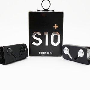 Auricolari di alta qualità dell'OEM S10 S10 + Auricolari Bass cuffie stereo suono delle cuffie con controllo del volume per la S8 S9 in scatola